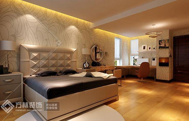 现代简约卧室角度2