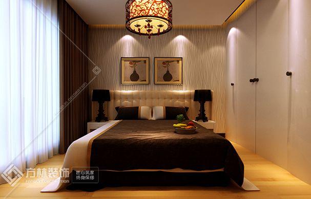现代简约卧室角度1